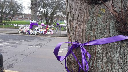 Tributes for murder victim Jodie Chesney in Harold Hill.