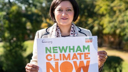 Mayor of Newham Rokhsana Fiaz at the launch of the clean air consultation. Picture: ANDREW BAKER