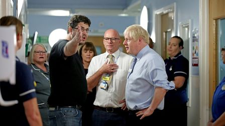 The father of a young girl expresses his anger over hospital waiting times to prime minister Boris J
