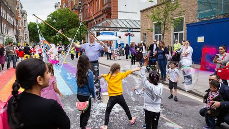 A 'car free' day in central London is paradise for children. Picture: TfL