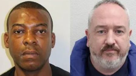 Jailed: Mark Lambie and Ben Hamill. Picture: Met Police