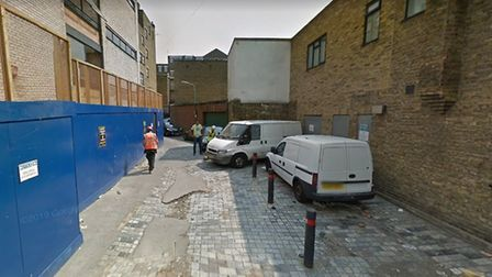 This alleyway has been the site of two dozen robberies since the start of 2017. Picture: Google Stre