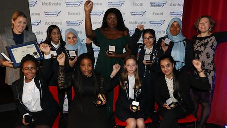 Jack Petchey Foundation achievement award winners from Sarah Bonnell School. Picture: Jack Petchey F