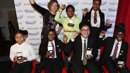 Jack Petchey Foundation achievement award winners from Langdon Academy. Picture: Jack Petchey Founda