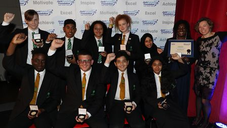 Jack Petchey Foundation achievement award winners from Forest Gate Community School. Picture: Jack P