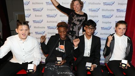 Jack Petchey Foundation achievement award winners from Education Links. Picture: Jack Petchey Founda