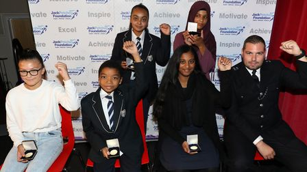 Jack Petchey Foundation achievement award winners from Brampton Manor Academy. Picture: Jack Petchey