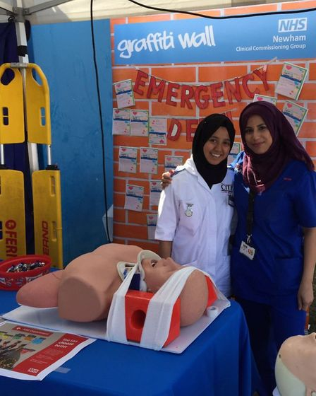 The Newham University Hospital open day showcased the work that staff do to help sick and injured pe