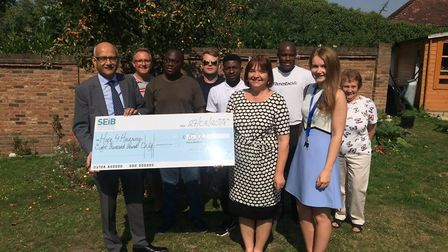 The insurance brokers donated �8,000 to Hope4Havering. Picture: SEIB