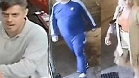 The police have released images of four people detectives want to speak to in connection with the fa