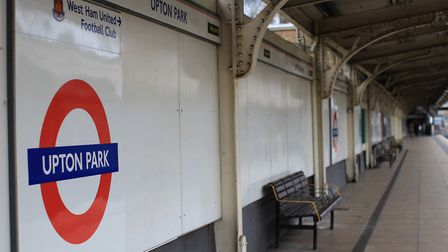 A person died after being stuck by a train at at Upton Park underground station.