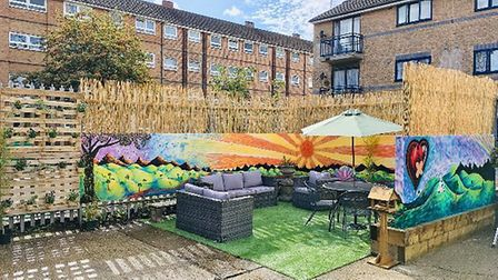 The garden at Newham Ambulance Station. Picture: Edward Kennedy