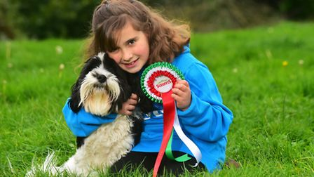 Hannah with her pet dog Finley. Pictures: Nick Butcher/Supplied.