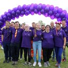 #ForJodie Sponsored Walk at Mayesbrook Park, Lodge Avenue. Organisers and helpers before the walkers