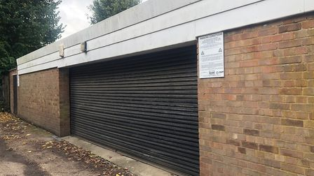 New signs have been put on one of the garages in Friary Lane, Woodford Green. Picture: Imogen Braddi