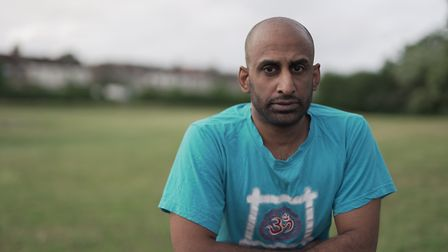 Junaid,wrote a poem exploring recovery. Picture: Suhail Patel