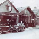 The Hensmans' garage in Brook Street, Brentwood, in1936. Picture: Sylvia Kent