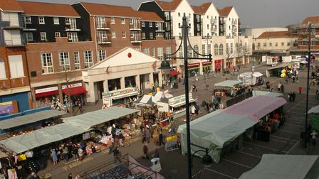 Romford market some 300 years after Stephen Bunce's scam. Picture: John Hercock