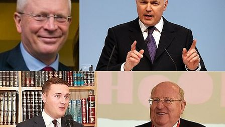 Top left to bottom left clockwise: Leyton and Wanstead MP John Cryer, Chingford and Woodford MP Iain