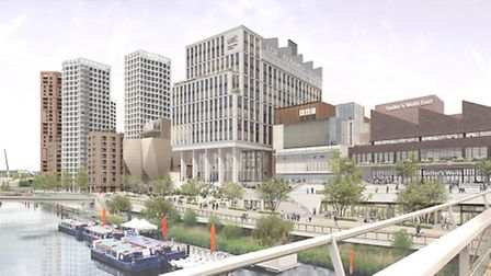 Artist's impression of Stratford Waterfront. Picture: GLA