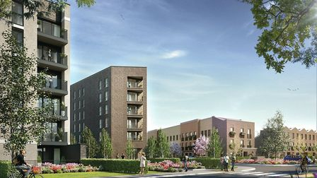 An artist's impression of how the completed Beam Park development may look. Picture: Countryside