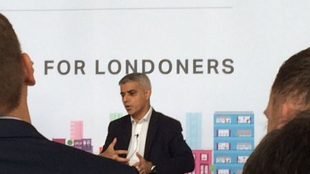 Mayor of London Sadiq Khan at the Homes for Londoners conference. Picture: Sophie Morton