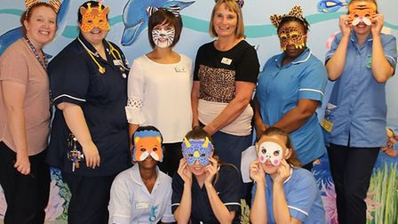 Children's ward staff getting into the spirit of Play in Hospital Week. Picture: BHRUT