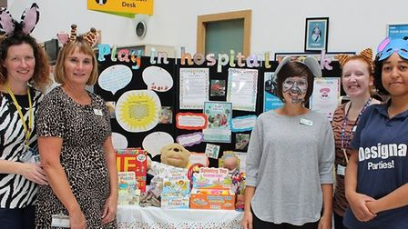 Staff at Queen's Hospital spreading the word about Play in Hospital Week. Picture: BHRUT