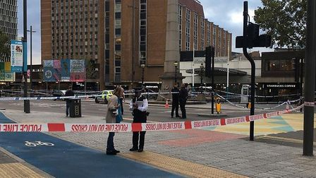 A police cordon has been set up after two teenage boys were stabbed in Stratford. One was pronounced