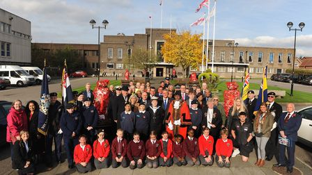 Havering launches its 2019 Poppy Appeal outside the town hall on Wednesday, October 30. Picture: Hav