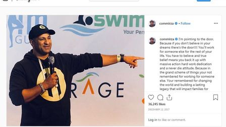 An Instagram post from December 2017. The Mirza brothers partnered with the Muslim Entrepreneur Netw