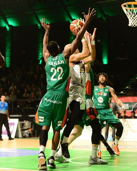 Action from London Lions clash with Plymouth Raiders (pic Graham Hodges)