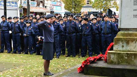 The RBL Service of Remembrance at the Wanstead War Memorial.