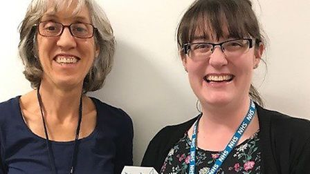 Children�'s community asthma nurse specialists Alison Cottingham and Emily Guilmant-Farry. Picture: