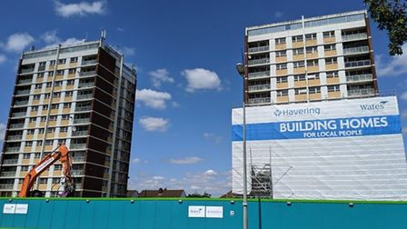 The dismantling of the last two blocks, Napier and Plymouth House, got under way in 2019. Picture: A