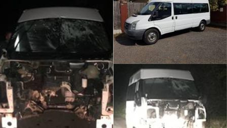 The Treetops minibus was stolen on Tuesday morning in Harold Hill and found 'completely destroyed' o