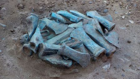 "The items date back to between 800 and 900 BC and were all discovered ""in the Rainham area"". Picture"