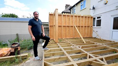 Alan Street on his abandoned extension in Hornchurch. Picture: Polly Hancock