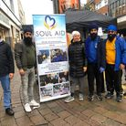 The Langar Week stand was erected in Romford last Saturday. Picture: Soul Aid
