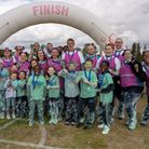 Friends and family of Grace Hill at the Bubble Rush event. Picture: Richard House