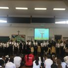 The Black History Month event at St Francis' Catholic Primary School. Picture: Angharad Carrick