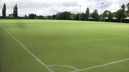 An Astroturf pitch similar to this one would be installed at Rise Park Junior School's proposed MUGA