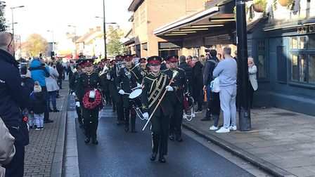 Hornchurch held a parade through the town centre and memorial service at St Andrew's Church to mark
