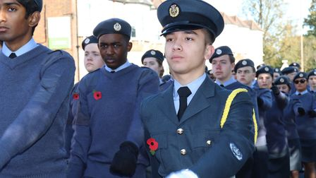 Brentwood School's Combined Cadet Force marching at the Remembrance Day Parade on Sunday, November 1