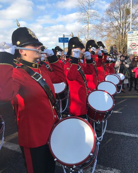 Members of the Brentwood Imperial Youth Band at Brentwood's Remembrance Day Parade. Picture: Brentwo