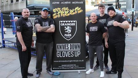 Knives Down, Gloves Up at their Off the Streets kickoff event. Picture: Paul Kavanagh