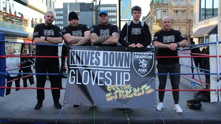 Knives Down, Gloves Up. Picture: Paul Kavanagh