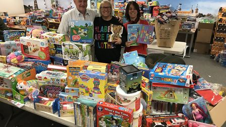 Some of the toys collected for last year's appeal. Picture: Kevin Jenkins