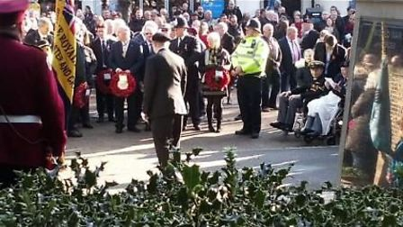 Upminster's Remembrance Day service on Sunday, November 10. Picture: @SgtBargus262