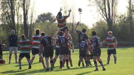 Campion in action against Ilford Wanderers (Pic: Colin Brown)